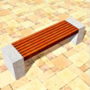 Скамейка бетонная парковая №2 фото