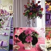 Оформление свадеб живыми цветами фото