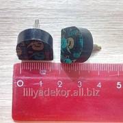 Набойки полиуретановые со штырём №17 (17x17 мм) штырь 3,04 чёрные фото