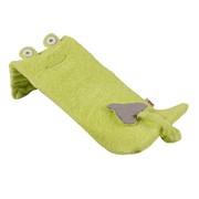 Лежак Minene Лежачок для купания Unique Baby Bath Плюшевый лягушонок, зеленый 42x25x15см фото