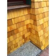 Деревянные гонтовые фасады фото