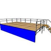 Подиум сборно-разборный 6х4 метра фото