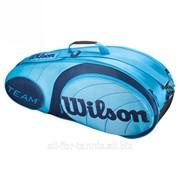 Сумка для тенниса Wilson Team Blue 6 Pack Bag (6 ракеток) фото