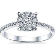 Кольцо классическое с бриллиантами SI1/G 0.70 Ct фото