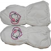 Варежки белые Hello Kitty 2 фото