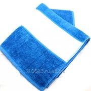 Полотенце 50х100см махровое синее(бордюр под нанесение 12см) фото