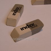 "Ластик ""INDEX"" 40x14x8мм,серо-белый,IRE260-80. фото"