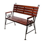 Скамейка металлическая Люкс фото