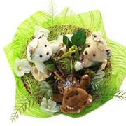 Букет из мягких игрушек Шоколадные мишки 4080 фото