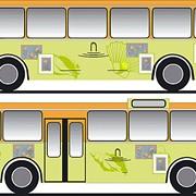 Реклама на общественном транспорте фото