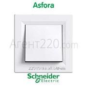 Переключатель 1кл. белый Asfora EPH0400121 фото