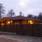 Дом из профилированного сухого бруса фото