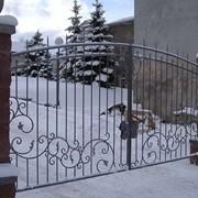 Кованные ворота и калитки фото