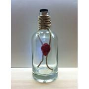 Подарочная бутылка с сургучной печатью фото