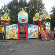 Детские горки для игровых площадок под заказ фото