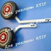 Колеса транцевые удлиненные КТ-1У для лодок с дном низкого давления. фото