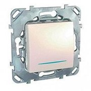 Unica беж. Выключатель 1-кл. кнопочный с инд. ламп MGU5.206.25NZD (уп 10 фото