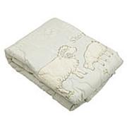 """Одеяло из овечьей шерсти """"Стандарт""""140*205см (308) фото"""