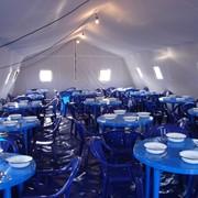 Палатки двадцатиместные лагерные на деревянных стойках 4,87х 4,87х1,7/3,0 м фото