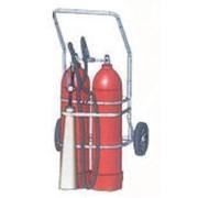 Передвижной углекислотный огнетушитель ВВК-36 фото