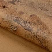 Подарочная упаковка крафт бумага Старинные карты фотография