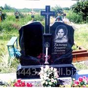 Памятник гранитный для двоих № 216 фото