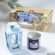 """Новогодний набор свеча и фонарик """"Счастливого нового года"""" фото"""