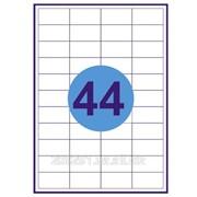 Этикетка самоклеящиеся а4, 44 шт на листе 48,5х25,4 фото