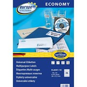 Этикетки самоклеящиеся Europe ELA001-18, 38x21,2мм,65шт на листе А4 18л/уп. фото