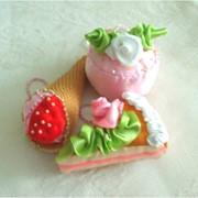 Елочнная игрушка пирожное фото