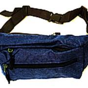 Поясная сумка №19 синий фото