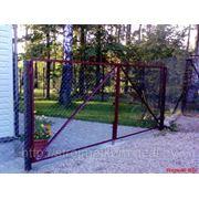 Ворота из сетки -рабицы фото
