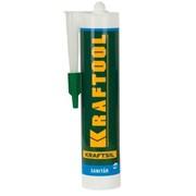 Герметик силиконовый Kraftool белый, санитарный, для помещений с повышенной влажностью, 300мл Код: 41255-0 фото