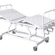 Кровать функциональная КМФТ171-МСК трехсекционная с винтовыми регулировками высоты и наклона секций с ложем и спинками из пластика (код МСК-3171) фото