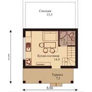 Дачный домик - проект код дп3в фото
