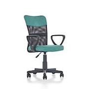 Кресло компьютерное Halmar TIMMY (бирюзовый/черный) фото