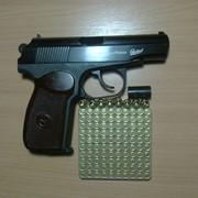 Сигнальный пистолет Макаров с бородой и автоматикой (бакелитовая рукоять) фото