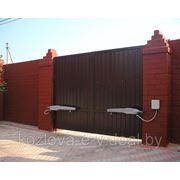 Въездные ворота распашные в Минске (Собственное производство) фото