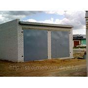 Ворота гаражные из листа 2мм (х\к) фото
