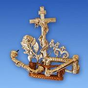 Фурнитура к гробам, из пластмассы, ручки, закрутки, кресты, распятие,таблички и.т.д... фото