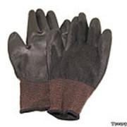 Прорезиненные перчатки рабочие коричневые фото