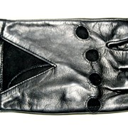 Перчатки женские кожа автомобильные чёрные L318 фото