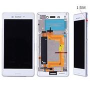 Дисплей для Sony M4 в cборе с тачскрином на рамке (White) (Version:1 SIM) фото