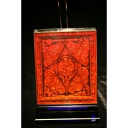 Сувенир голографический с подсветкой настольный Неопалимая купина фото