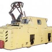 Электровоз контактный рудничный К14М фото