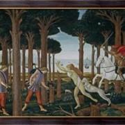 """Картина История Настаджио дельи Онести (""""Декамерон"""" Бокачччо),1483, Боттичелли, Сандро фото"""