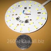 Круглая светодиодная плата панель модуль 220В 15Вт; LED PCB 220V, 15W фото