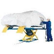 Подъемник ножничный г/п 2500 кг. пневматический рельсовый Herkules (Германия) фото