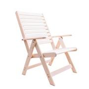 Деревянное садовое раскладное кресло с подлокотниками Ганро фото