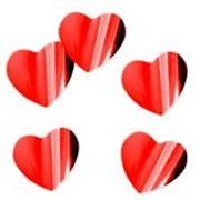 """Конфетти Веселуха """"Сердца красные"""" 3 см., фольгированные, 500 г., 415002 фото"""
